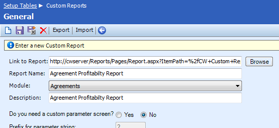 Adding a custom-built SSRS report into ConnectWise - NexNow
